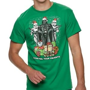 Men's Star Wars Darth Vader Christmas Tee